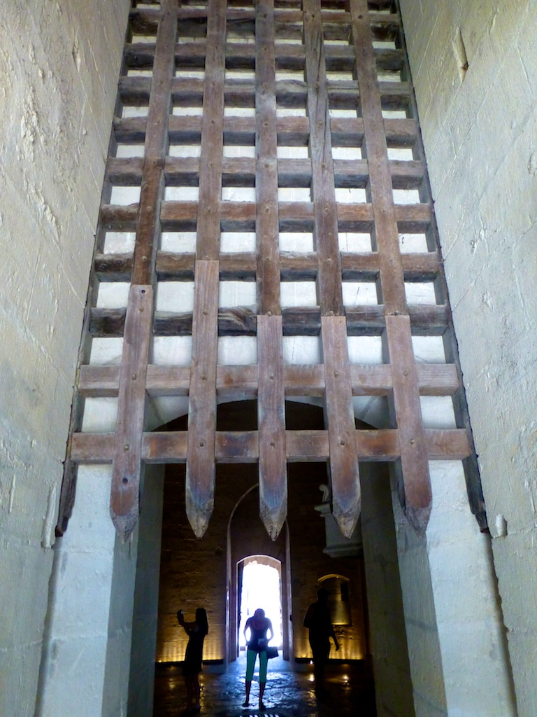 Drawbridge entry to the Constance tower, Aigues-Mortes, France