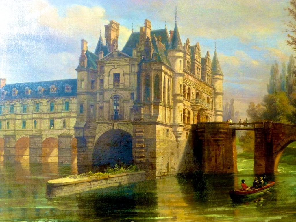 Earlier painting of Chateau de Chenonceau