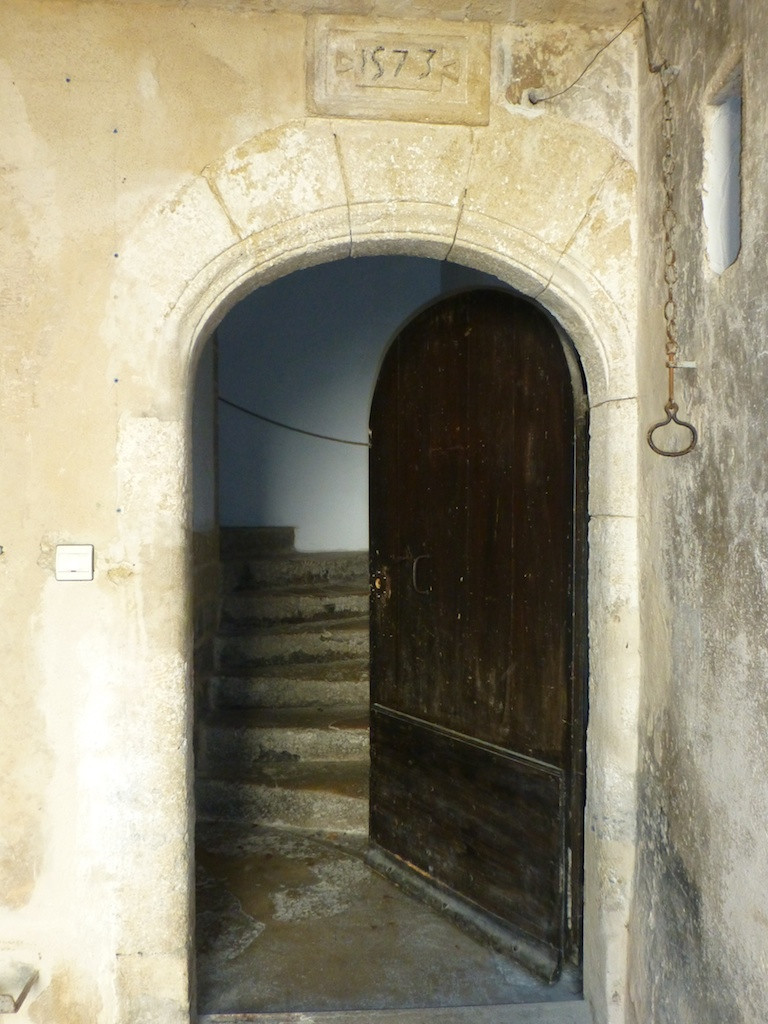 Entrance to oldest house in Lourmarin, 1573