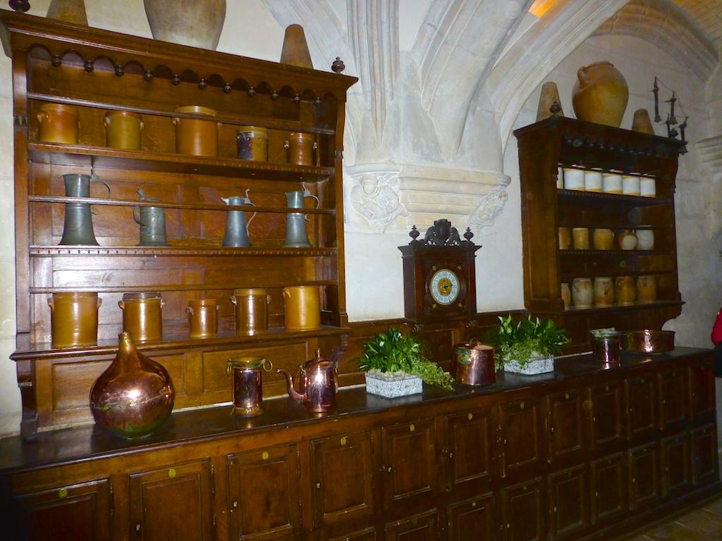 Serving dresser at Chateau de Chenonceau , Loire Valley, France