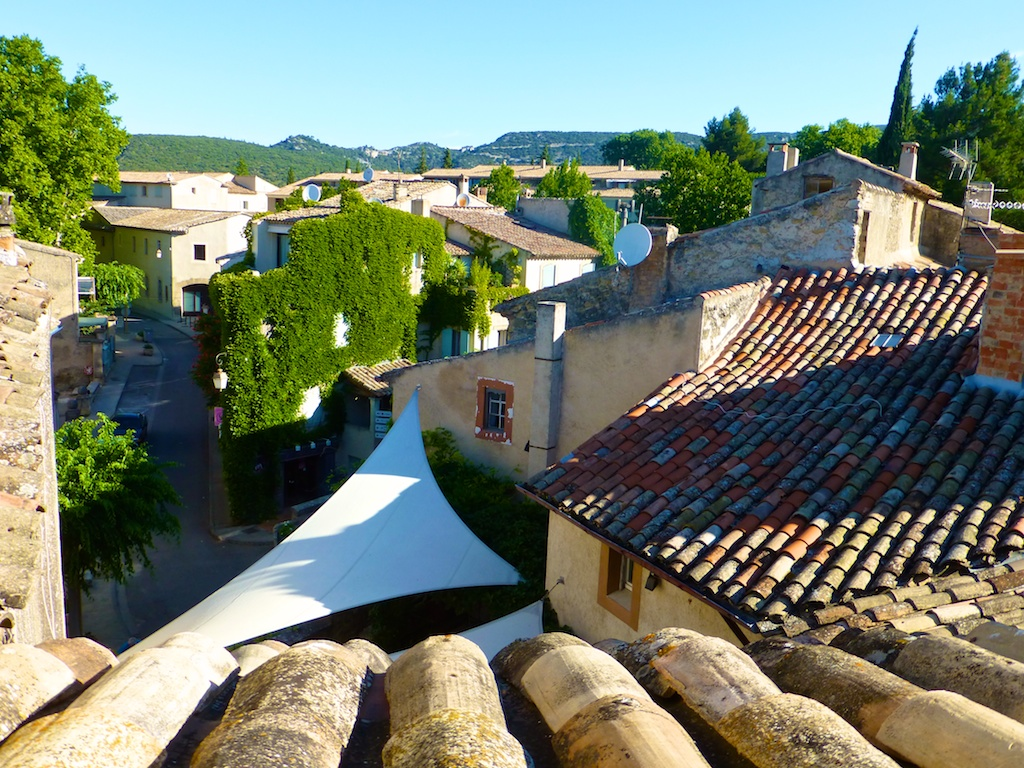 Terrace view in Lourmarin