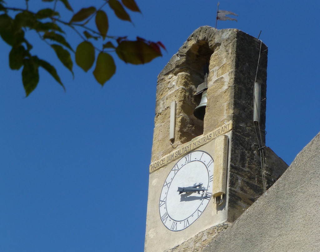 The Lourmarin church clock