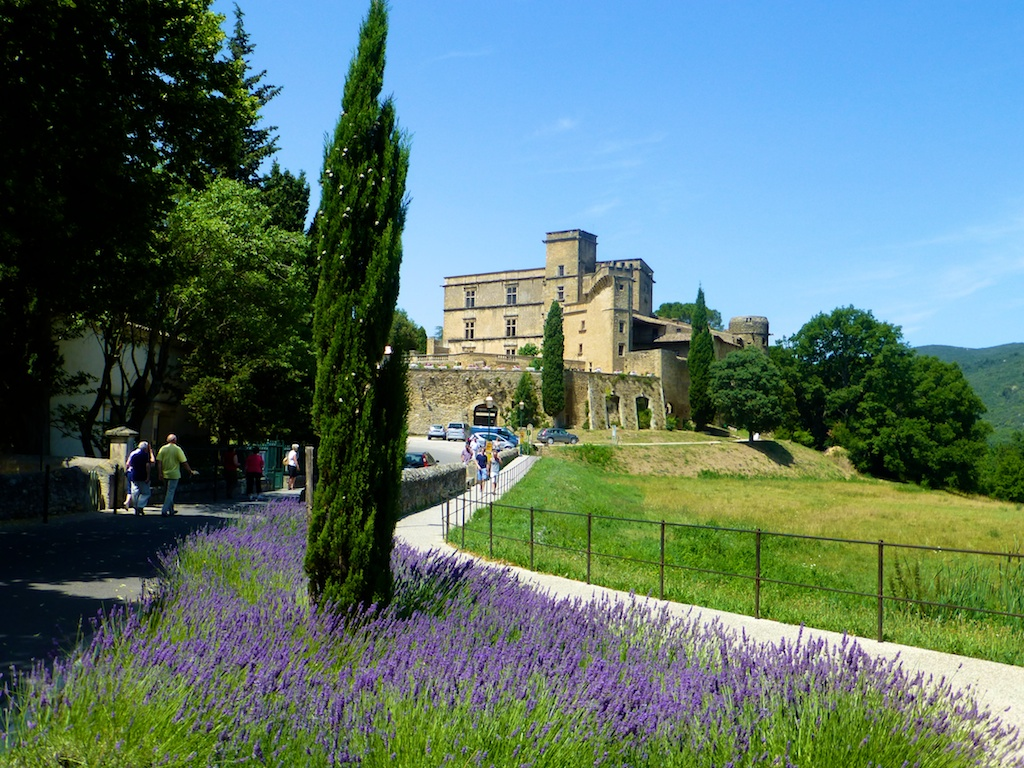 The lavender by Chateau in Lourmarin, Luberon. Provence, France