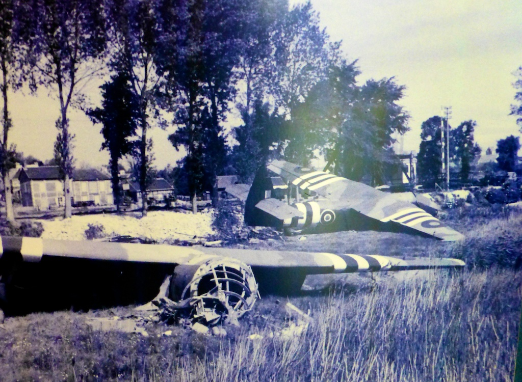 Crashed gliders at Pegasus Bridge, DDay, June 6th 2014