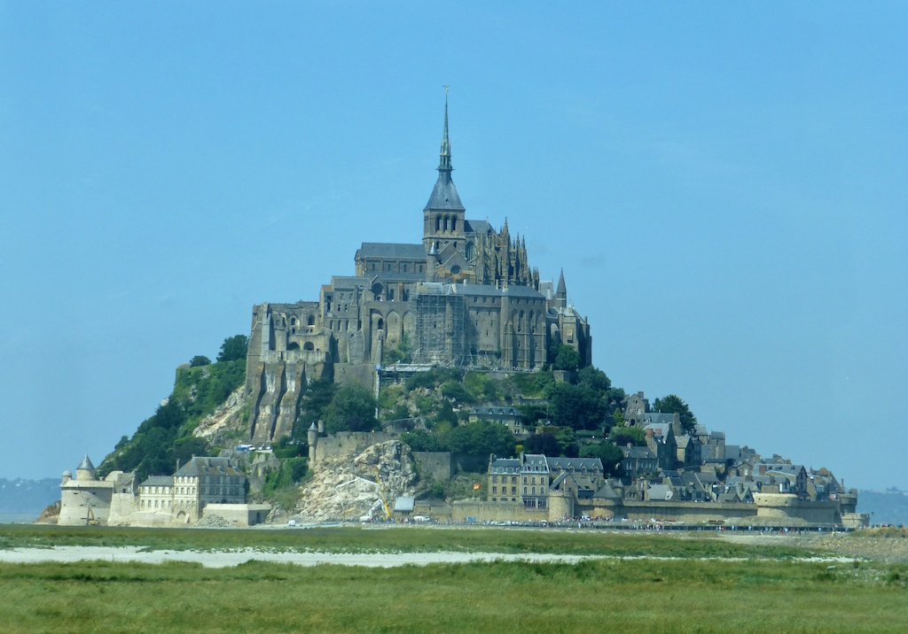 Driving to Mont St Michel, France