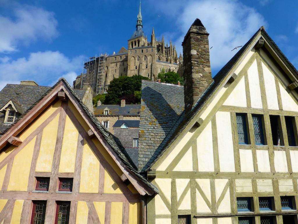 Gabled roof tops, Mont Saint Michel, France