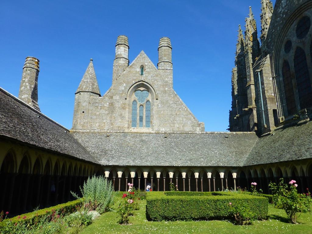 Inside the Abbey Cloisters, Mont Saint Michel, France