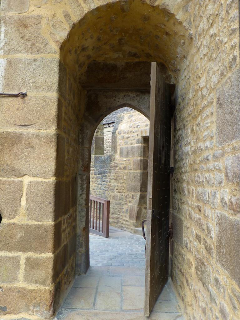 Outer entrance to Mont Saint Michel, France