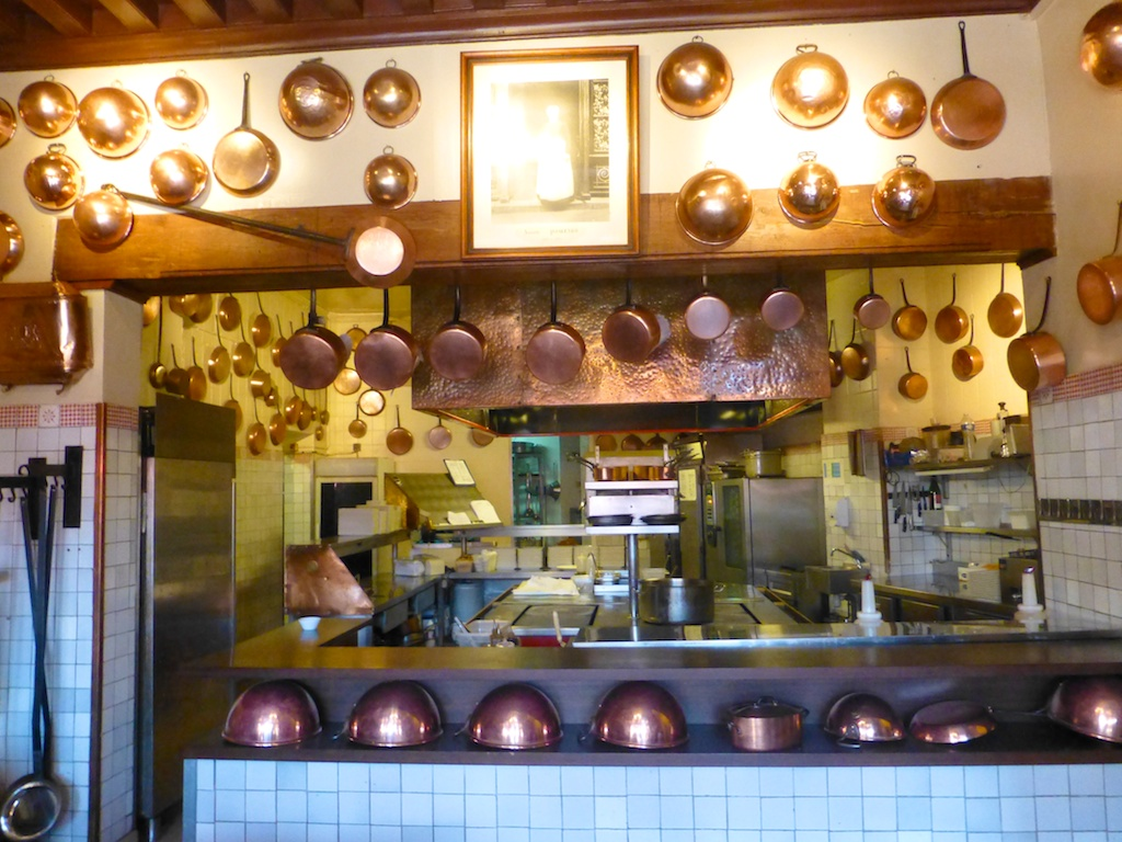 The kitchen of La Mere Poulard, Mont Saint Michel, France