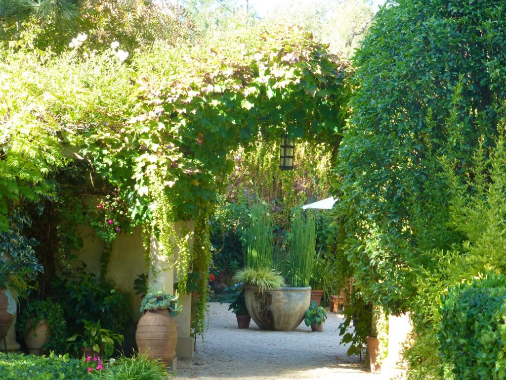 Gardens at Chateau St Jean, Sonoma Valley, California, USA