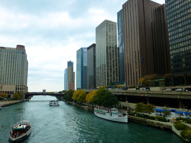 View of Chicago from the river