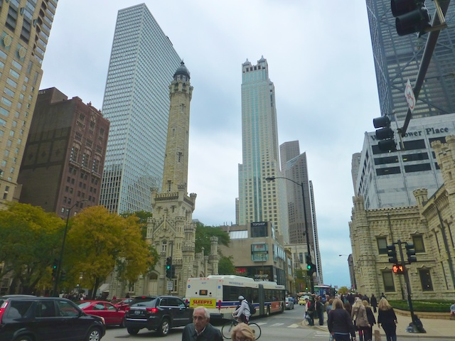 On Michigan Avenue, Chicago's Magnificent Mile