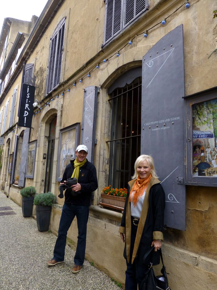 Outside the Isidri Gallery in Lourmarin The Luberon, Provence, France