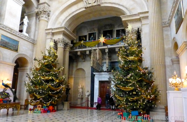 Blenheim Palace decorated for Christmas at Woodstock, England, birth place of Sir Winston Churchill