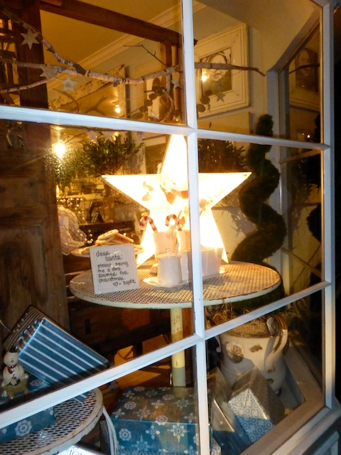 Christmas window in Danville CA USA