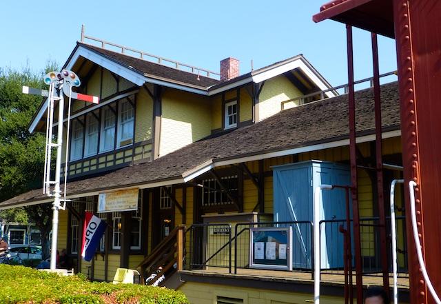 The original Railway Station in Danville, CA