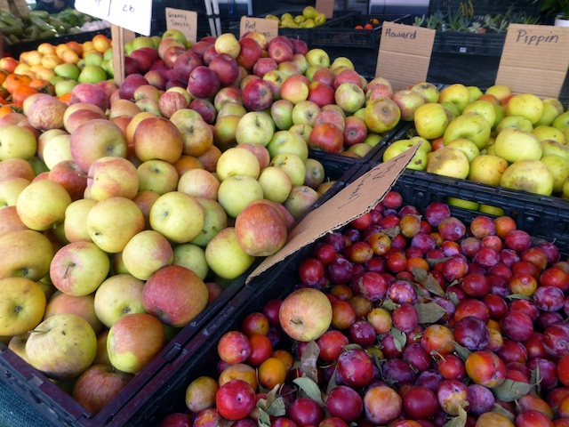 Fall apples at the Danville, Califronia, Farmers Market