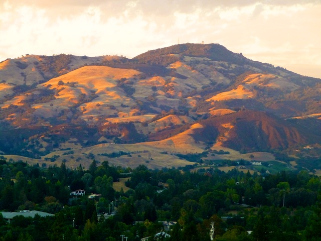 Mount Diablo from Danville, California, USA
