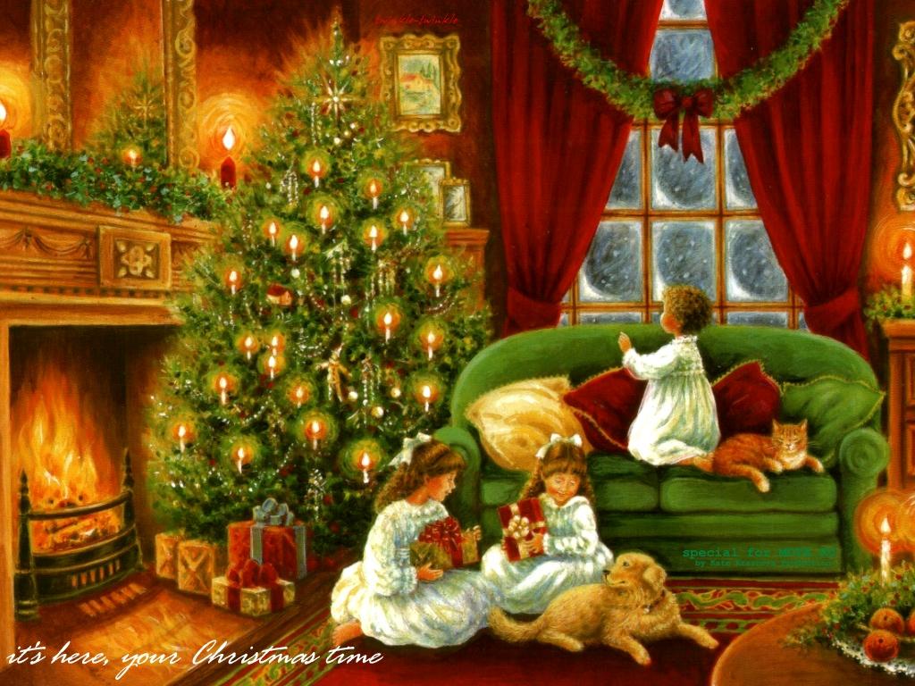 Christmas morning long ago!