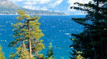Across Lake Tahoe in December, New Year's Eve