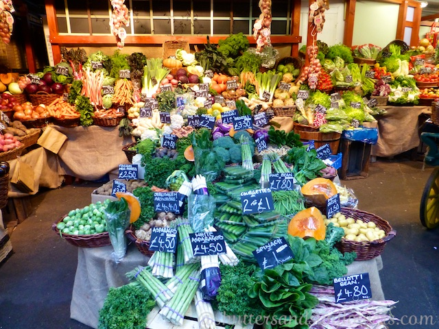 Vegetables or sale at Borough Market, London