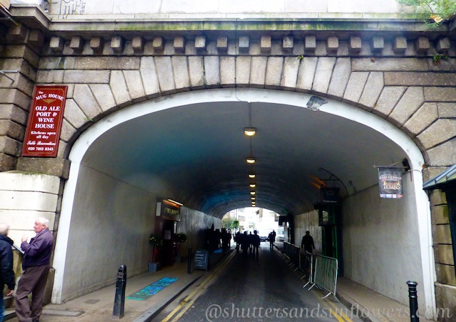 Only remaining archway of London Bridge from Dickens' times