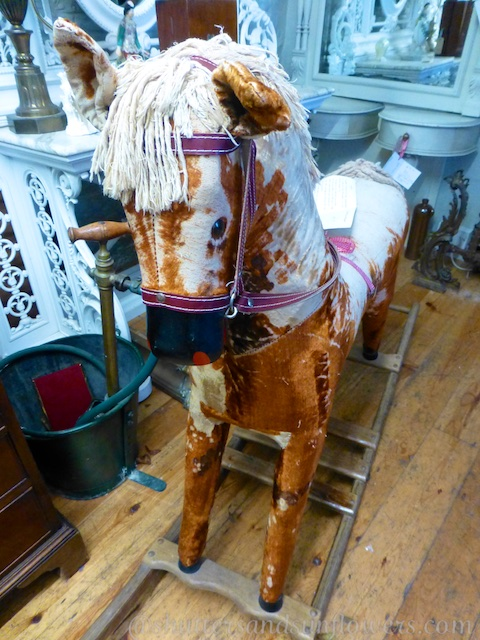 An antique rocking horse for sale in Tetbury in the Cotswolds, England