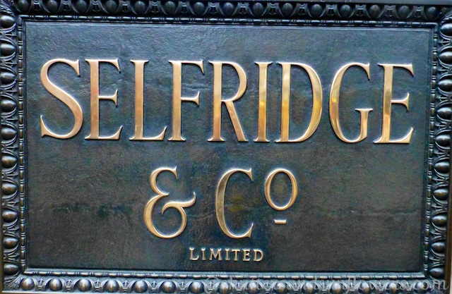 Selfridges sign, Oxford Street, London