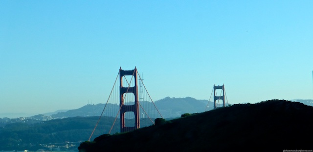 First sight of the Golden Gate Bridge into San Francisco from Marin County