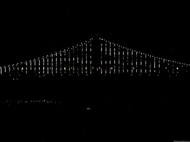 The Bay Bridge San Francisco at night