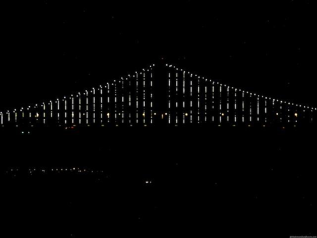 The Bay Bridge San Francisco at night