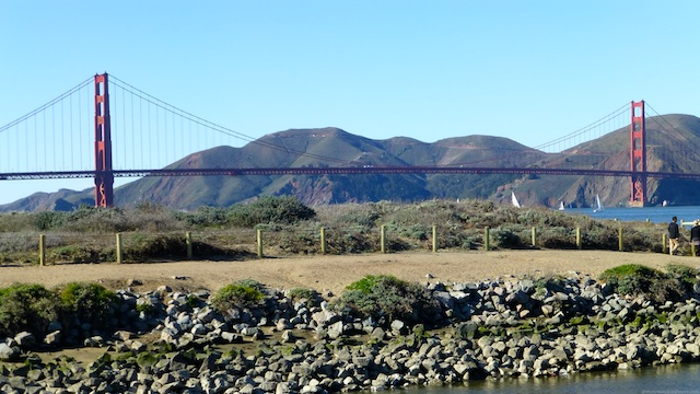 The Golden Gate Bridge from Crissy Field