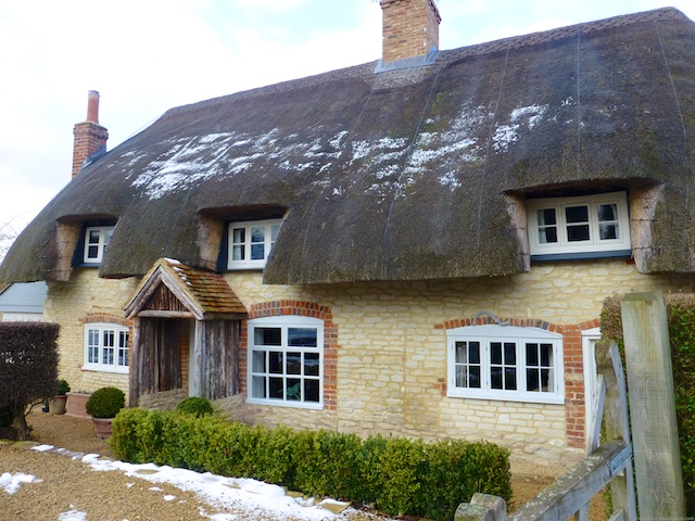 A thatched cottage in Ewelme, Oxfordshire, England