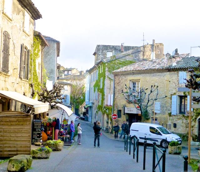 Street scene in Lourmarin, Provence