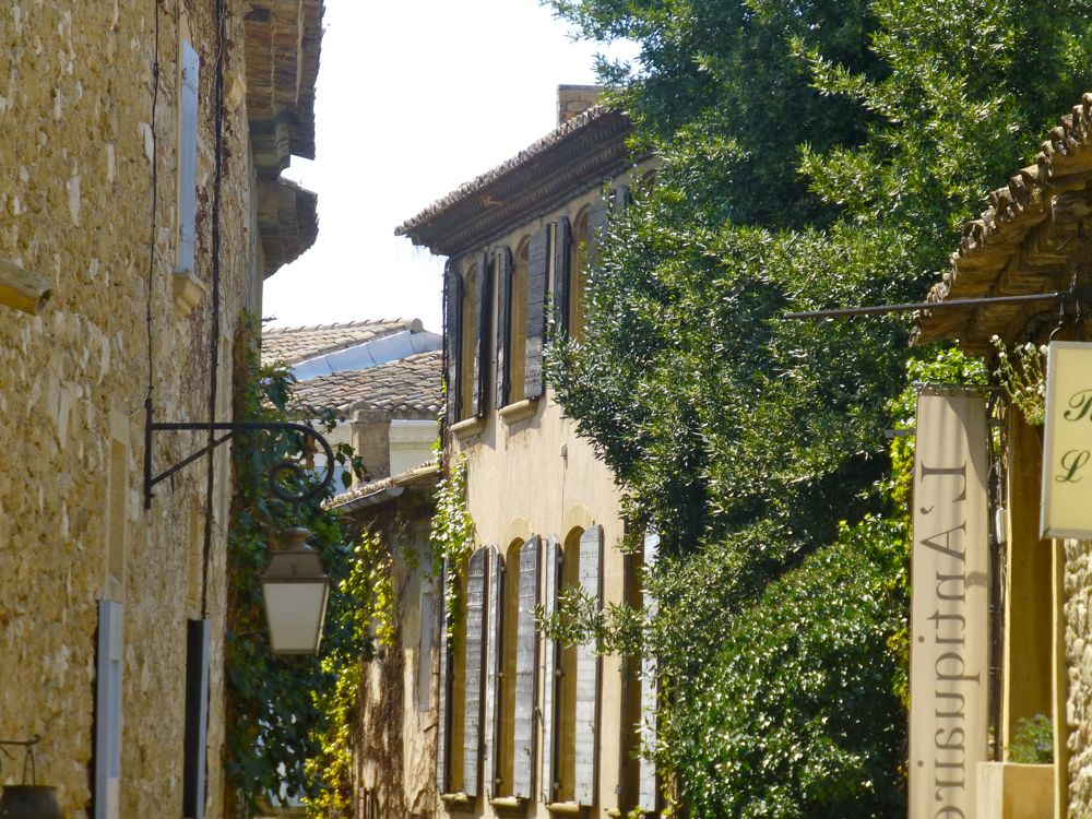 A medieval street in Lourmarin, Provence