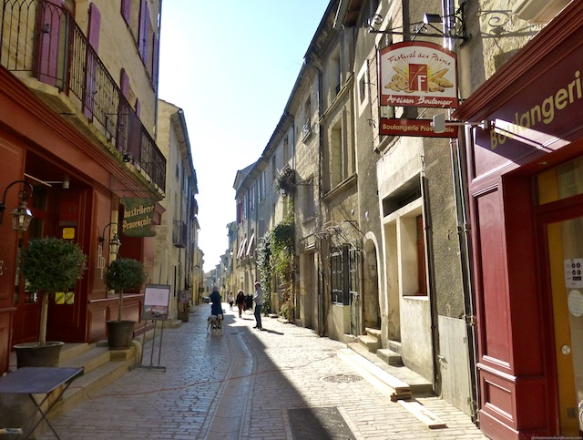 A street in Uzes, near Provence France