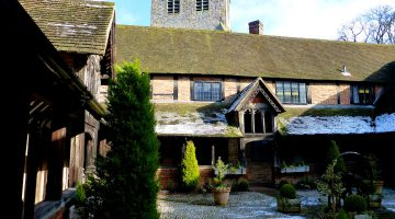 The almshouses and church at Ewelme, Oxfordshire, England