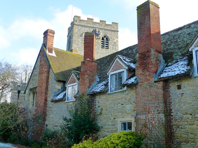The Church and alsmhouses in Ewelme