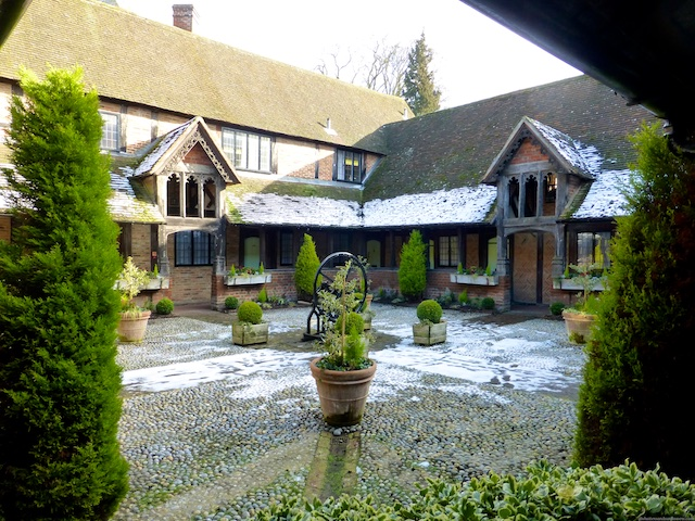 The almshouses in Ewelme, Oxfordshire, England