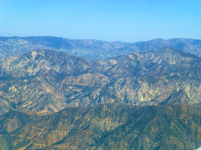 The Los Angeles Hills from 9000 feet