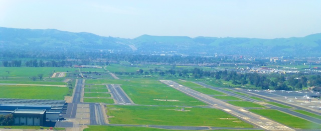 On approach at Livermore Airport, Northern California