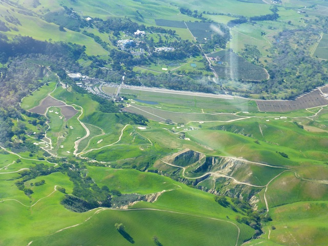 Flying over Livermore, Northern California