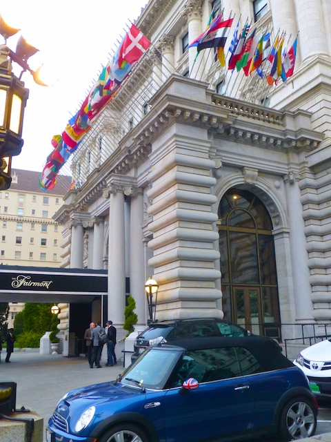 The Parked outside the Fairmont Hotel, San Francisco