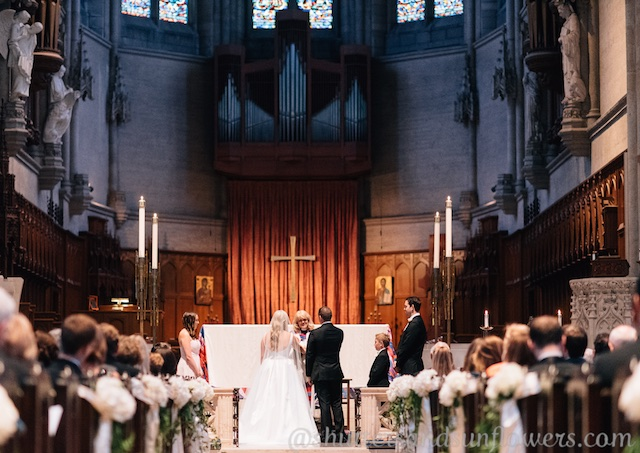 Wedding vows at San Francisco's Grace Cathedral
