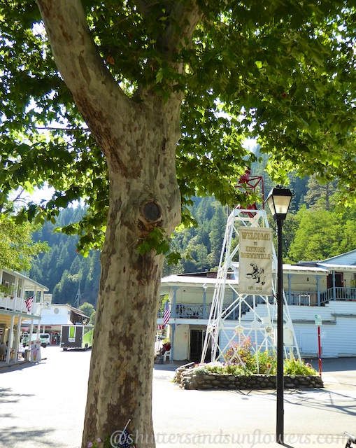 The center of Downieville, a Californian gold rush town