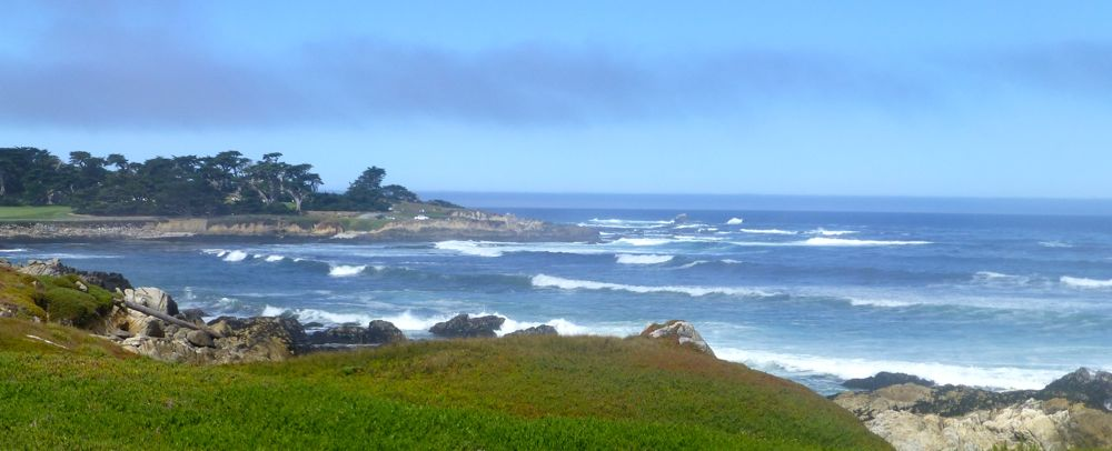 The coastline of 17 Mile Drive, by Carmel, California