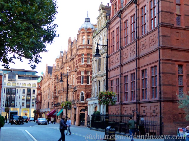 Red brick buildings of Mayfair London