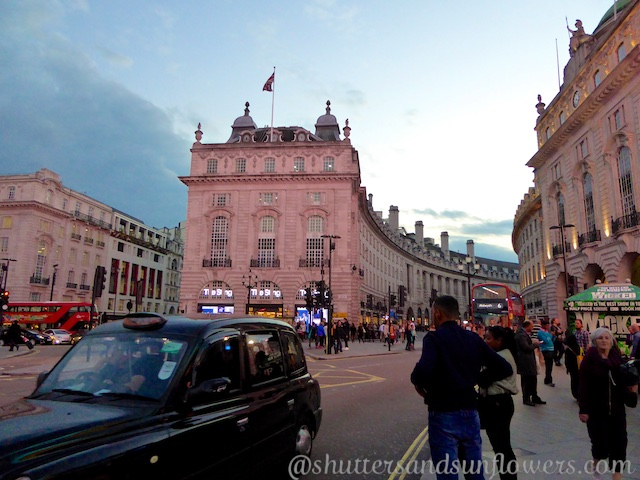 Piccadilly Circus, London at dusk