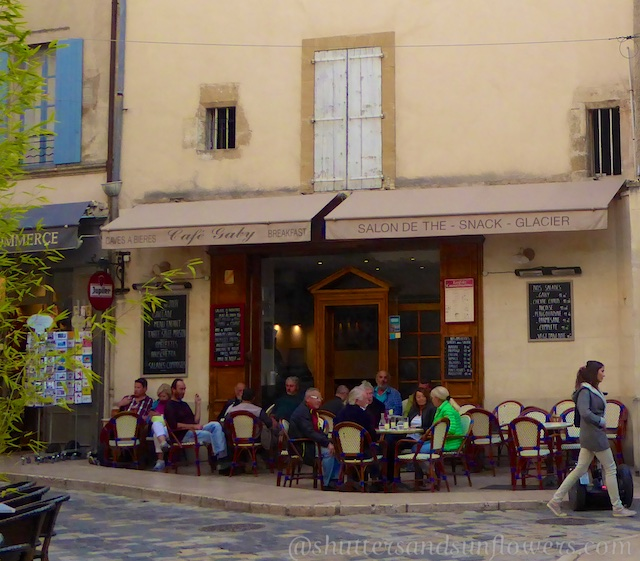 Cafe Gaby in Lourmarin in the Luberon Valley, Vaucluse, Provence, France
