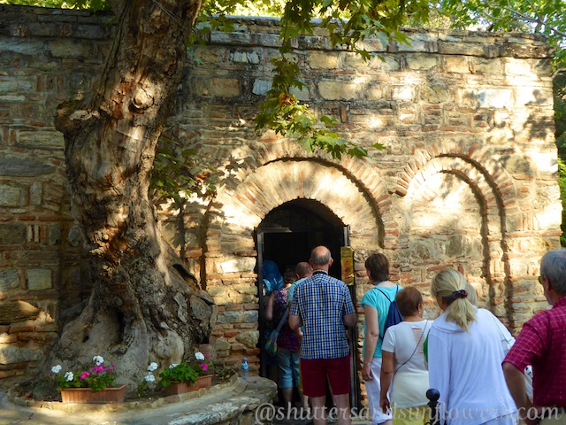 Entry to the Chapel of the Virgin Mary near Ephesus, Turkey